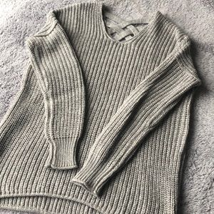 Mossimo Supply Co. Sweaters - Mossimo Grey/silver Sweater